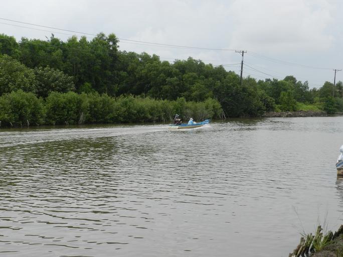 Đoạn sông xảy ra vụ lật xuồng khiến Đan và Ưng chết đuối thương tâm