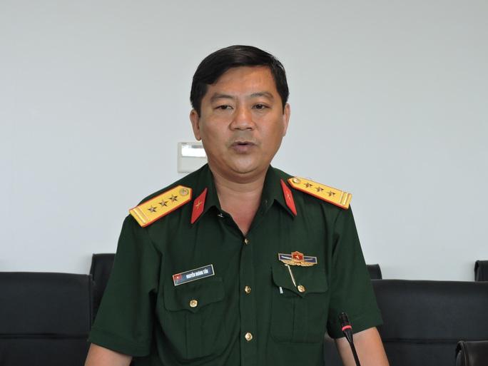 Thượng tá Nguyễn Hoàng Tấn thông tin về vụ máy bay rơi