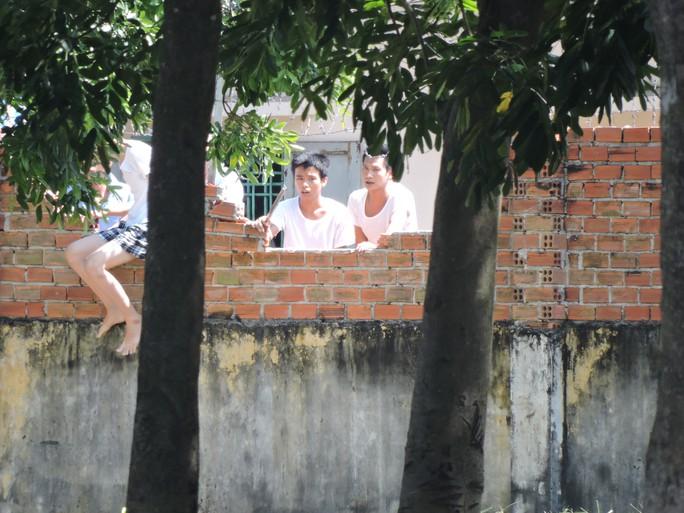 Hình ảnh học viên trốn trại tại trung tâm