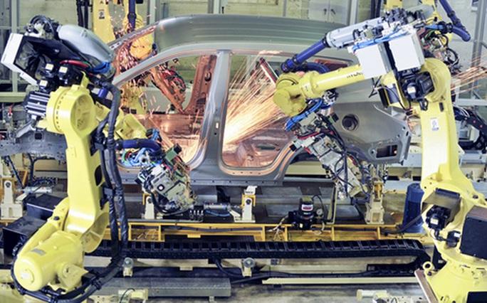 Dây chuyền sản xuất tại nhà máy Hyundai Thành Công, Ninh Bình.