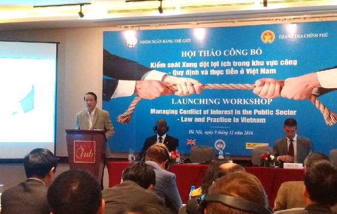 Ông Nguyễn Văn Thanh, Phó Tổng Thanh tra Chính phủ, khẳng định xung đột lợi ích là chế định được phổ biến rộng rãi ở nhiều quốc gia
