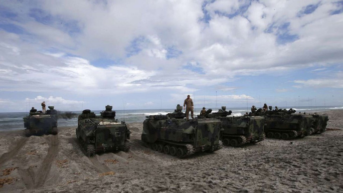 Một cuộc tập trận chung giữa Mỹ và Philippines. Ảnh: AP