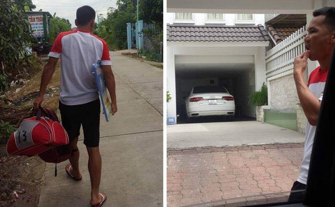 Cầu thủ Viết Đàn đến nhà riêng của Công Vinh để nhận tiền hỗ trợ