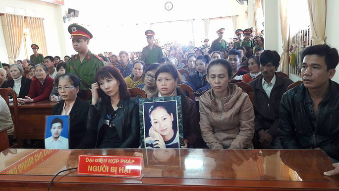 Gia đình bị hại tại phiên tòa