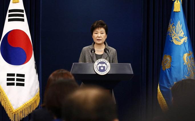 Tổng thống Hàn Quốc Park Geun-hye phát biểu tại Nhà Xanh hôm 29-11 Ảnh: Reuters