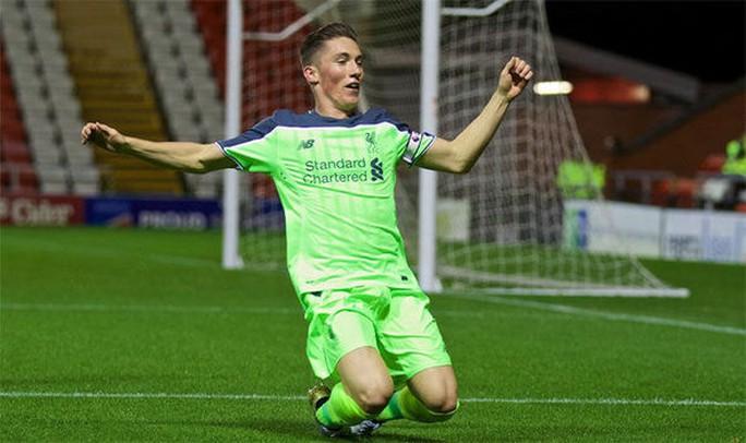 Harry Wilson ăn mừng bàn thắng vào lưới U23 M.U