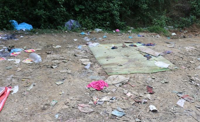 Hiện trường nơi phát hiện bao tải giấu thi thể cô giáo mầm non bị sát hại