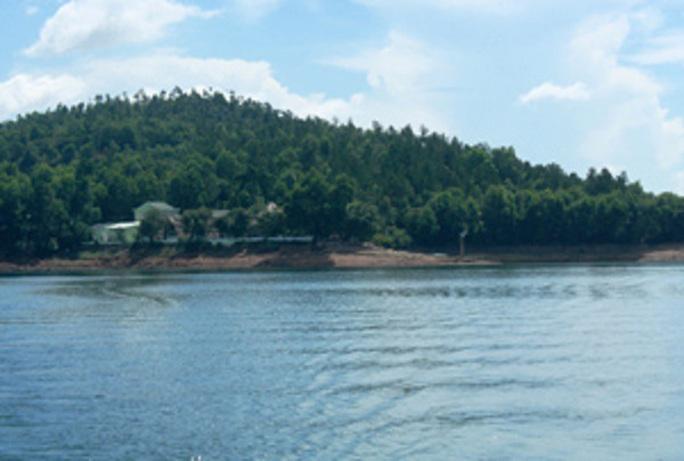 Hồ Phú Ninh nơi 2 học sinh chết đuối Ảnh: Internet