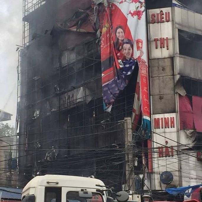 Siêu thị điện máy Minh Hải cháy rụi sau vụ cháy lớn