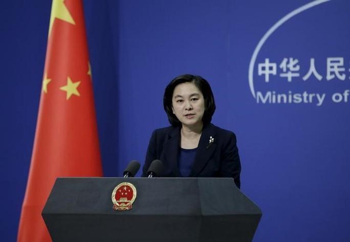 Phát ngôn viên Bộ Ngoại giao Trung Quốc Hoa Xuân Oánh. Ảnh: Reuters