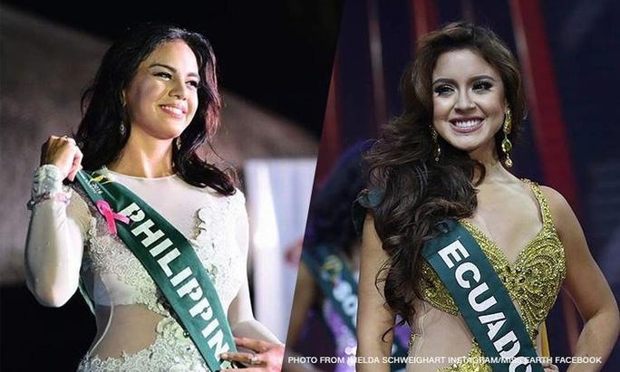 Hoa hậu Trái đất Philippines từ bỏ vương miện sau khi nói xấu Tân Hoa hậu Trái đất là người đẹp Ecuador
