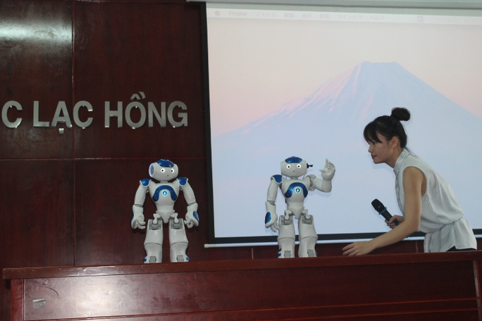 Hai chú robot có thể làm các động tác chào, đi, bật nhảy, nhận diện người quen và tự đứng dậy khi ngã