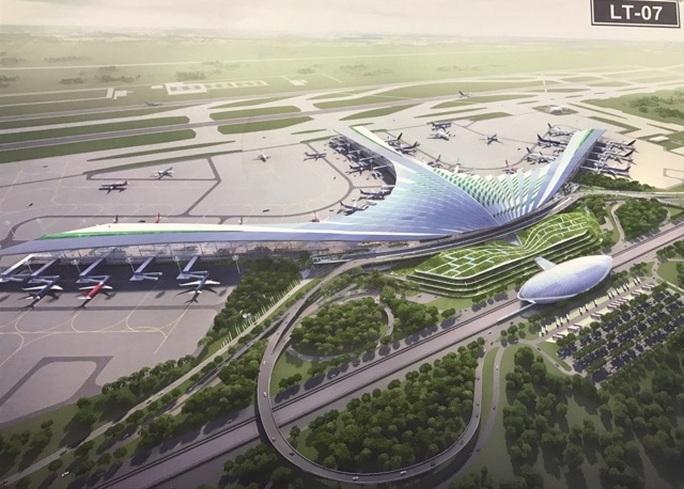 Phương án kiến trúc nhà ga sân bay quốc tế Long Thành được trưng bày tại triển lãm - Ảnh: T.Bình