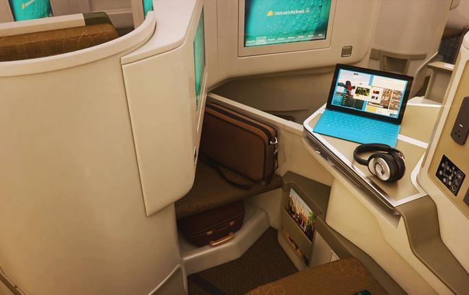 Vị trí ghế ngồi khoang thương gia của Vietnam Airlines