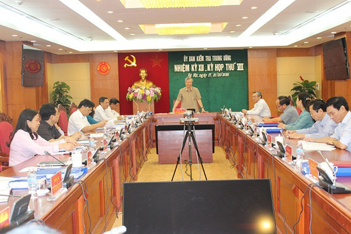Kỳ họp thứ VII của Uỷ ban Kiểm tra Trung ương
