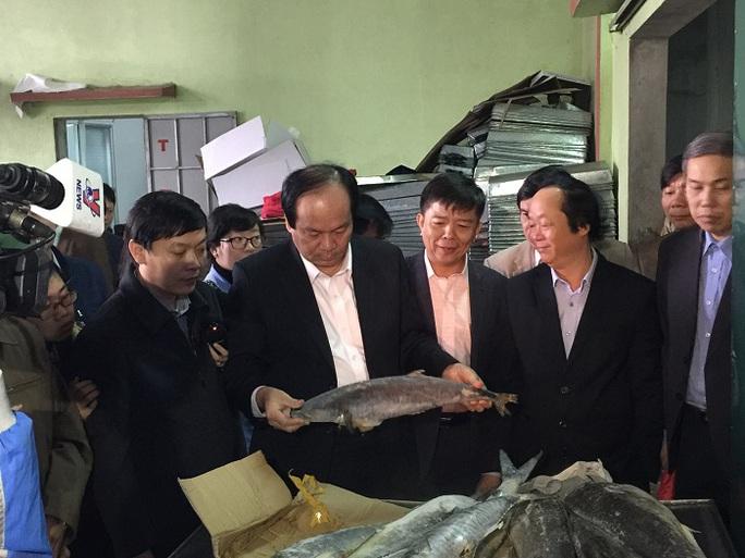 Tổ công tác của Thủ tướng Chính phủ đến thăm và làm việc với các cơ sở kinh doanh hải sản ở Quảng Bình vào sáng 15-12