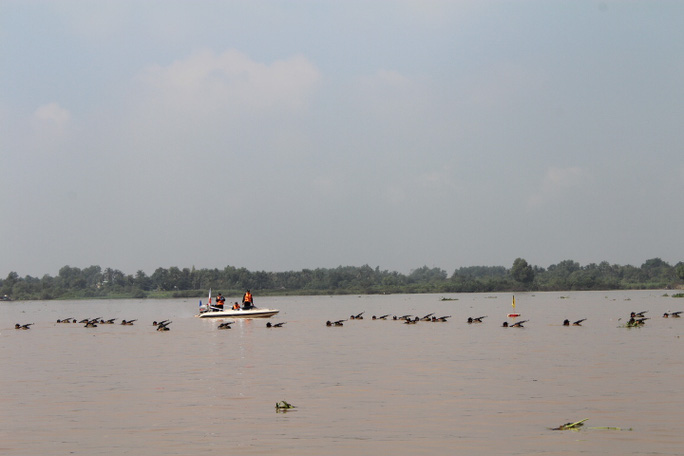 Trước đó, lực lượng cơ động triển khai đội hình trên sông