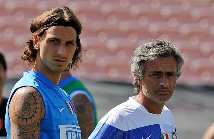 Ibrahimovic và Mourinho khi còn ở Inter