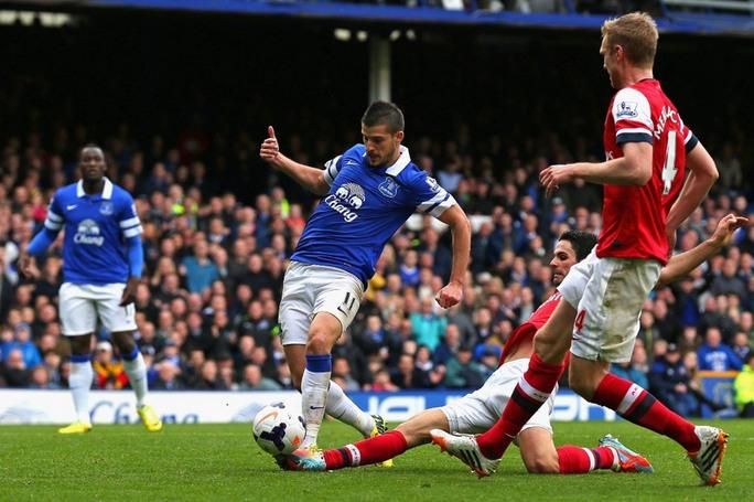 Everton của Mirallas chưa thua trên sân nhà mùa này Ảnh: REUTERS