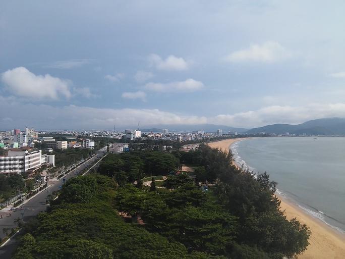 Khu vực Công viên biển Quy Nhơn nơi các đối tượng đánh bạc vừa bị bắt