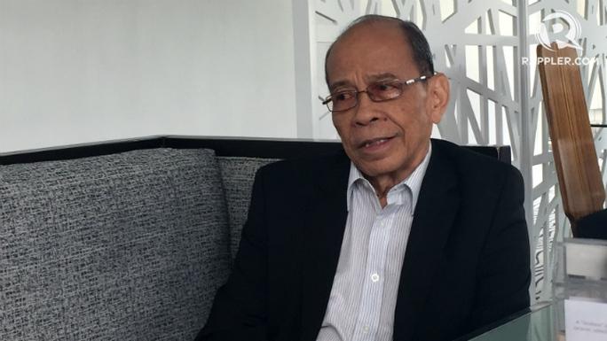 Ông Lauro Baja, cựu đại sứ Philippines tại Liên Hiệp Quốc. Ảnh: Rappler