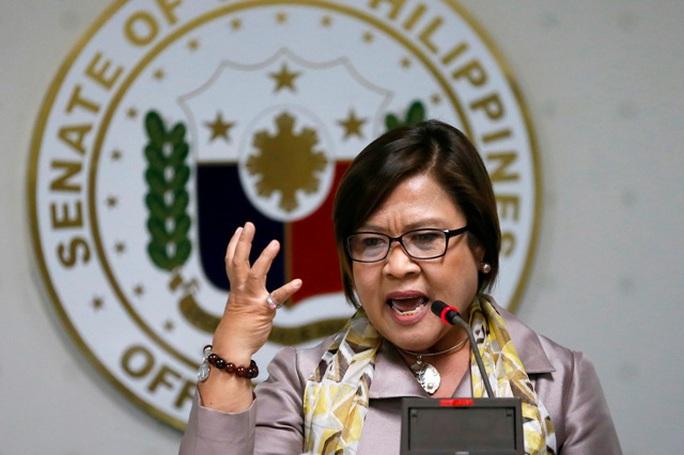 Thượng nghị sĩ Leila de Lima. Ảnh: AP