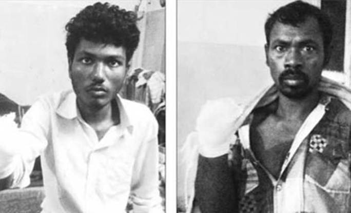 Dayalu Nial (trái) và Nilambar Dhangdamajhi. Ảnh: Indian Express