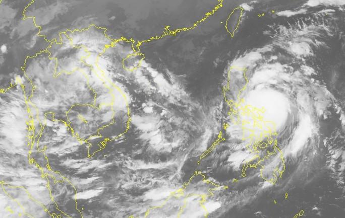 Ảnh mây vệ tinh bão Sarika - Nguồn: Trung tâm dự báo khí tượng thủy văn Trung ương