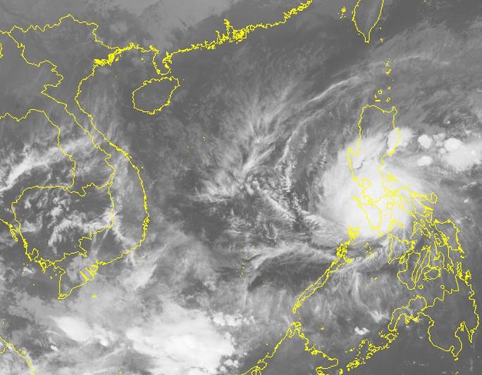 Hình ảnh mây vệ tinh của bão Nock-ten - Nguồn: Trumg tâm Dự báo khí tượng thủy văn trung ương