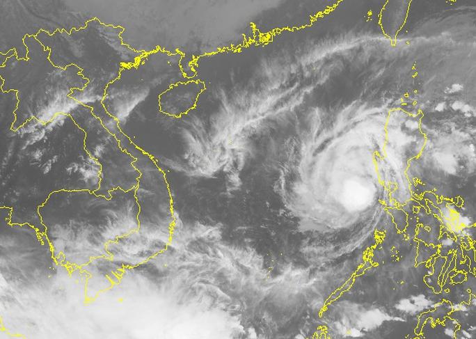 Ảnh mây vệ tinh bão số 10 - Nguồn: Trung tâm Dự báo khí tượng thủy văn Trung ương