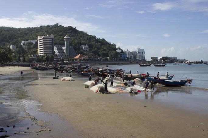 Khi chưa có lệnh cấm, các tàu cá vô tư neo đậu, trả hàng, gây mất vệ sinh