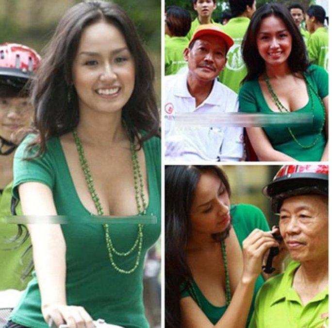 Hoa hậu Mai Phương Thúy cũng rất phản cảm trong một sự kiện mang tính cộng đồng