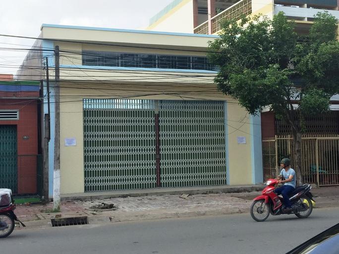 Căn nhà ông Nam xin giấy phép xây dựng đã lấn chiếm thêm 82 m2 đất công