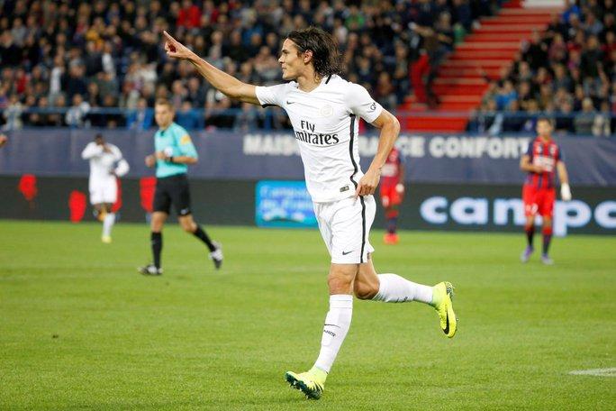 Cavani đã giải tỏa được áp lực tâm lý với 4 bàn thắng vào lưới Caen