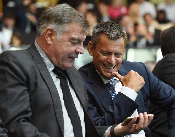 HLV Sam Allardyce và Giám đốc điều hành FA Martin Glenn