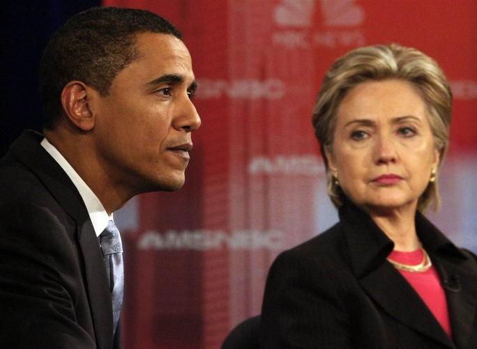 Tổng thống Obama và bà Hillary Clinton. Ảnh: Reuters