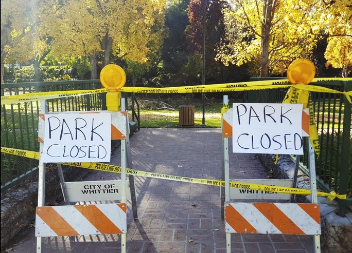 Công viên tạm đóng cửa. Ảnh: Onscene.TV