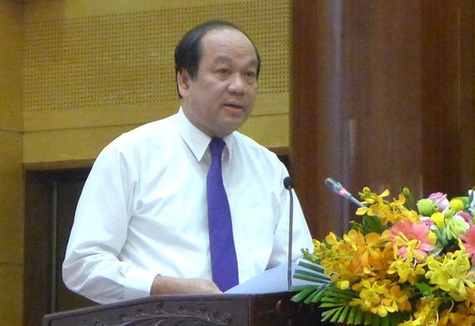 Bộ trưởng, Chủ nhiệm Văn phòng Chính phủ Mai Tiến Dũng khẳng định không có sự bao che, tiếp tay để Trịnh Xuân Thanh bỏ trốn - Ảnh: Bảo Trân