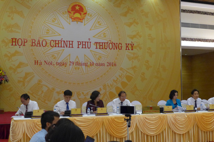 Buổi họp báo Chính phủ thường kỳ chiều ngày 29-10
