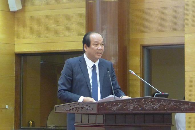 Bộ trưởng Mai Tiến Dũng chủ trì cuộc họp báo chuyên đề về điện hạt nhân Ninh Thuận