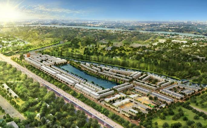 Phối cảnh dự án Lakeview City của Novaland