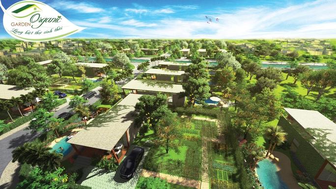 Phối cảnh dự án Làng biệt thự sinh thái Organic Garden