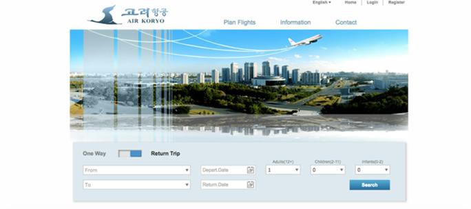 Giao diện một website du lịch của Triều Tiên. Ảnh: Reddit.