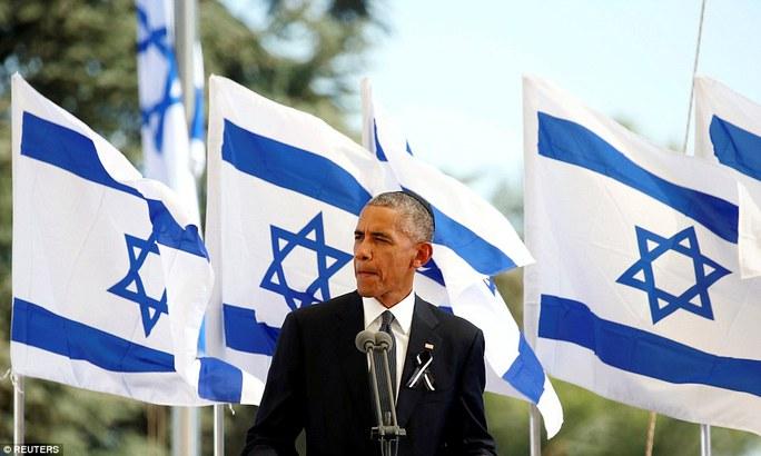 Tổng thống Mỹ Barack Obama dành cho cựu Tổng thống Peres những lời bày tỏ kính trọng. Ảnh: Reuters
