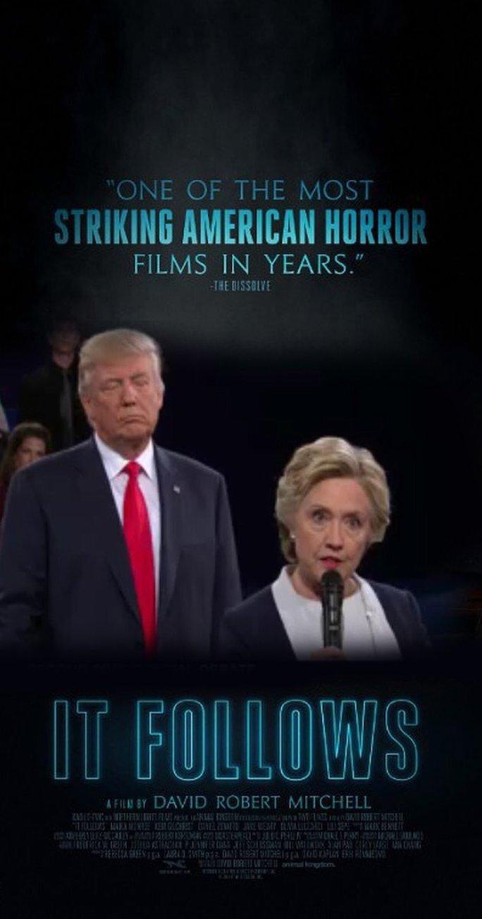Và dân mạng chế ngay poster một bộ phim kinh dị với cảnh tượng này. Ảnh: Twitter
