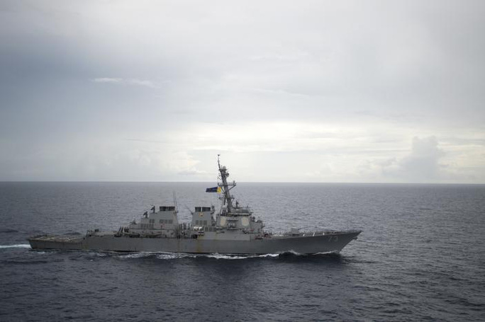 Tàu khu trục tên lửa dẫn đường USS Decatur thường tham gia các hoạt động trên biển Đông. Ảnh: Reuters