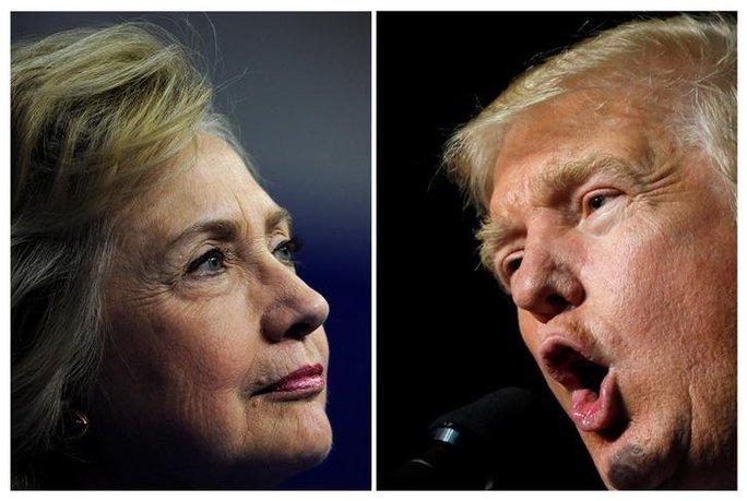 Ứng viên đảng Dân chủ Hillary Clinton hay đối thủ đảng Cộng hòa Donald Trump sẽ chiến thắng? Kết quả sẽ được định đoạt trong ngày bầu cử 8-11. Ảnh: Reuters