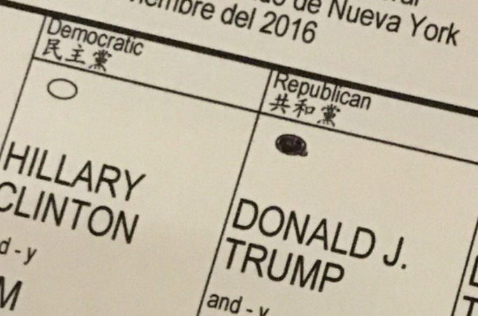 Phiếu bầu của Eric Trump cho cha. Ảnh: Twitter