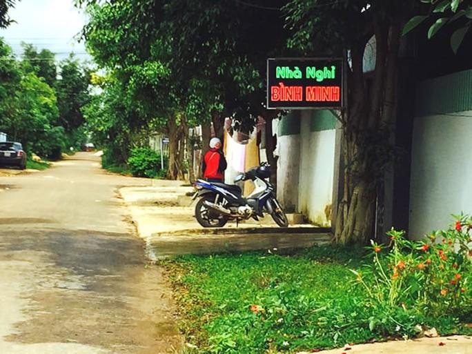 Nhà nghỉ Bình Minh - nơi xảy ra án mạng.