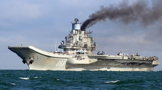 Lần đầu tiên các máy bay xuất kích từ tàu sân bay Đô đô Kuznetsov của Nga đã tham gia vào chiến dịch ở Syria. Ảnh: Reuters